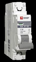 Выключатель автоматический однополюсный 10А С ВА47-63 4.5кА PROxima (mcb4763-1-10C-pro) mcb4763-1-10C-pro EKF
