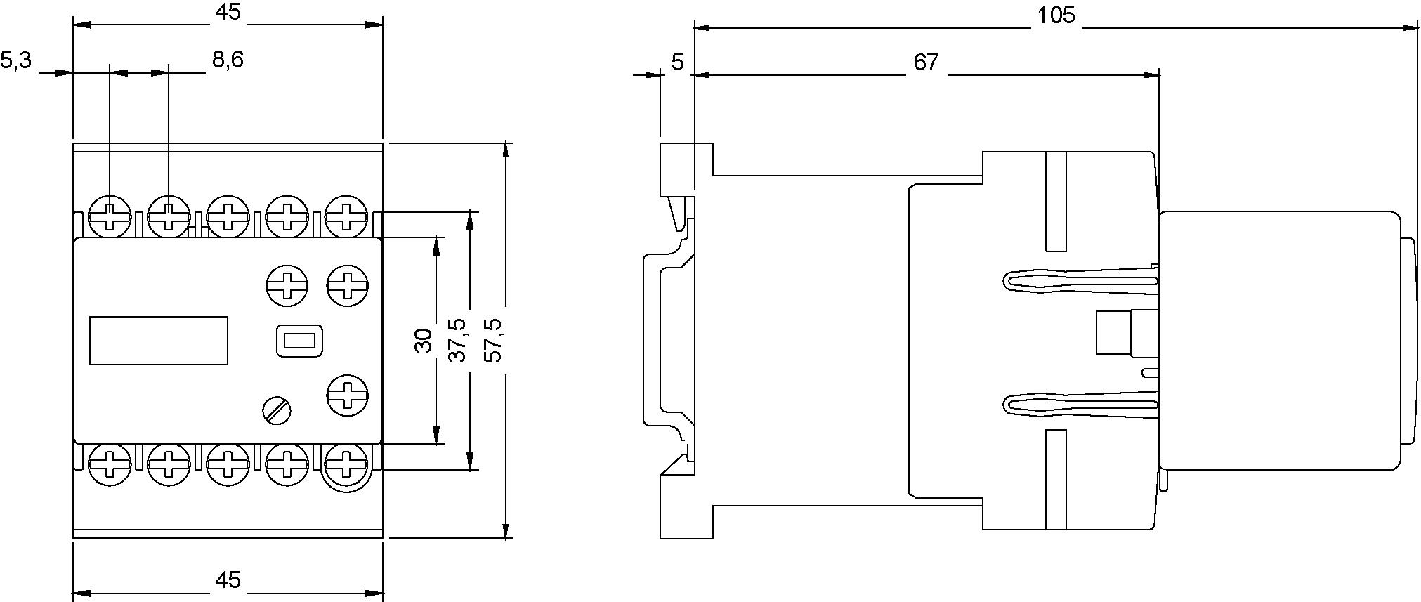 ОТДЕЛЬНО СТОЯЩЕЕ 2-Х ПРОВОДНОЕ РЕЛЕ ВРЕМЕНИ ДИАПАЗОН УСТАВОК 0.05 S..1 НO, AC/DC 90..240 V, ЗАДЕРЖКА ВЫКЛЮЧЕНИЯ, С ВАРИСТОРОМ ДЛЯ МОНТАЖА НА КОНТАКТОРЫ ТИПОРАЗМЕР S00, (3RT1916-2DH11) 3RT1916-2DH11 Siemens