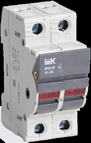 Предохранитель-разъединитель с индикацией ПР32 2P 10х38 32А (CFH02-32S) CFH02-32S IEK