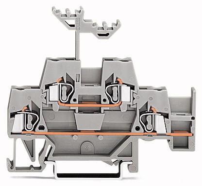 Клемма WAGO 2уровая 74мм Серый (280-520) 280-520 Wago