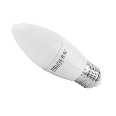 Лампа Gauss Elementary светодиодная свеча 6W E27 4100K LD33226 Gauss