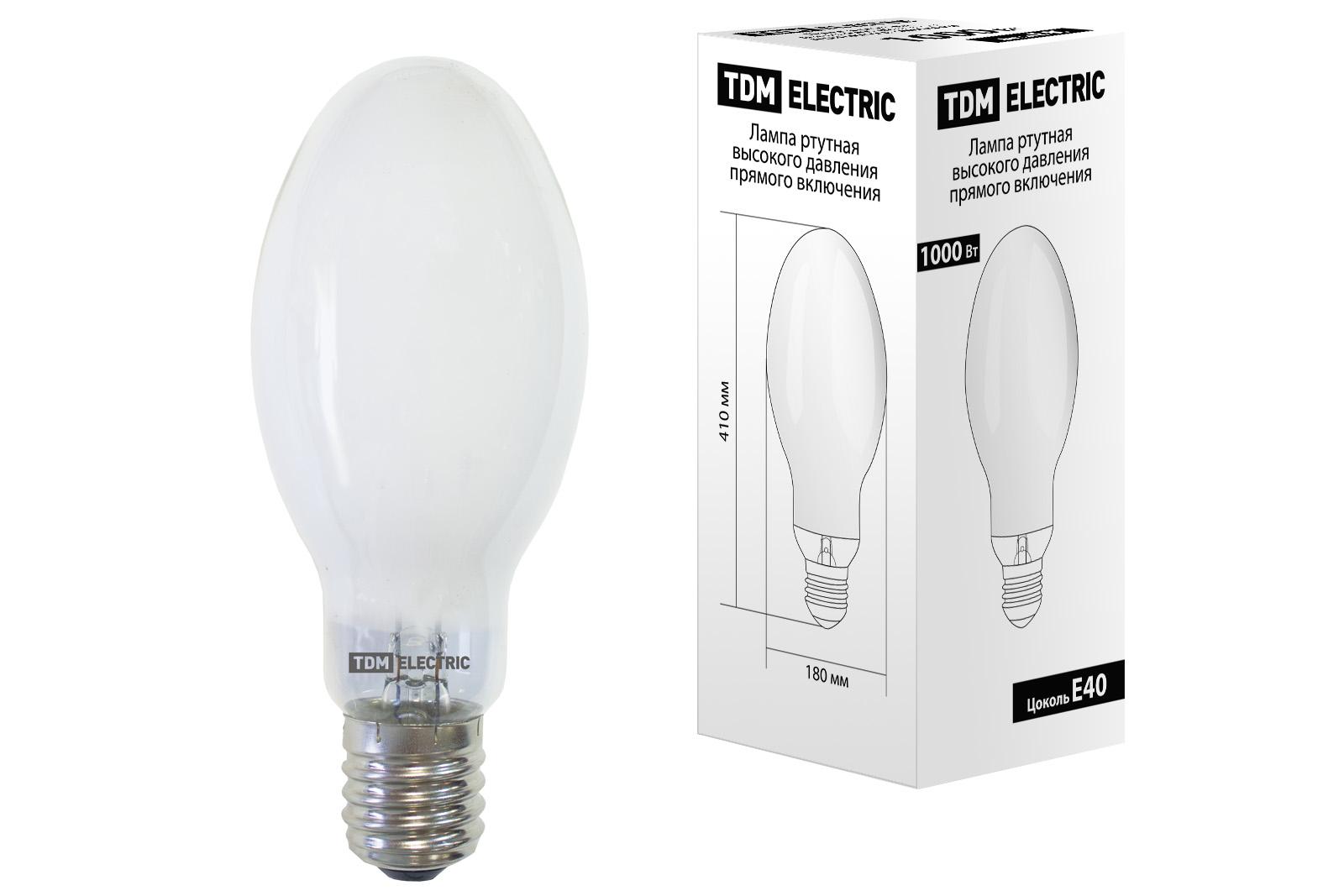 Лампа ртутная высокого давления ДРЛ 1000 Вт Е40 TDM SQ0325-0025 TDM Electric