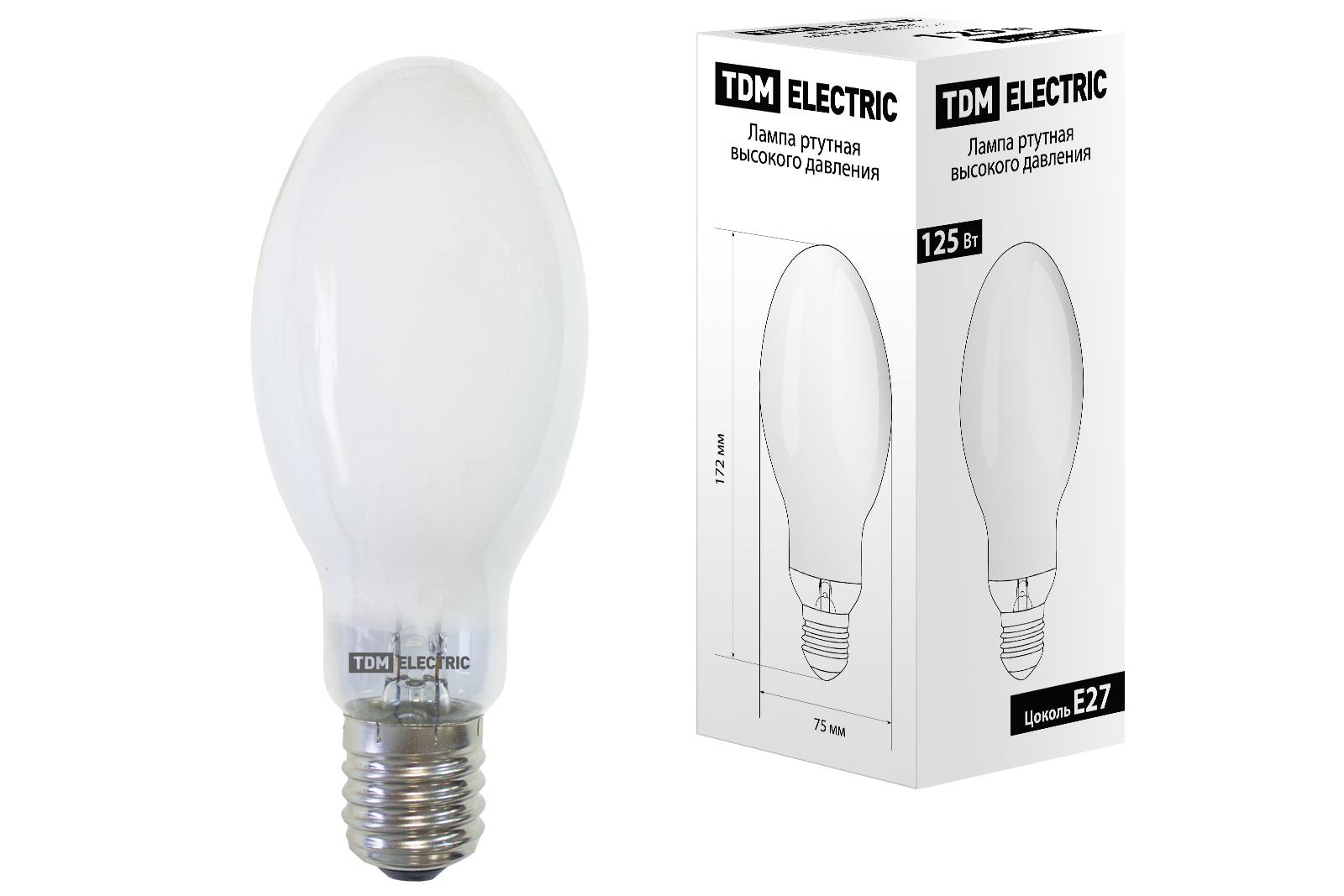 Лампа ртутная высокого давления ДРЛ 125 Вт Е27 TDM SQ0325-0008 TDM Electric