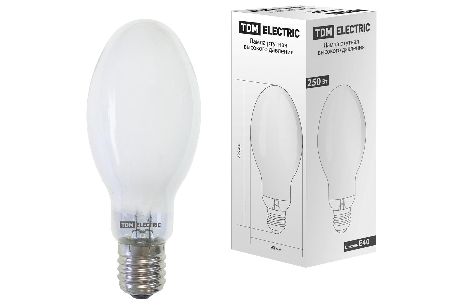 Лампа ртутная высокого давления ДРЛ 250 Вт Е40 TDM SQ0325-0009 TDM Electric