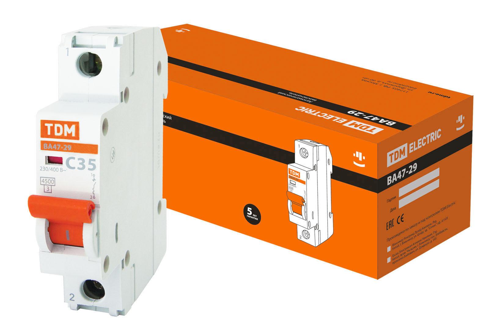 Авт. выкл.ВА47-29 1Р 32А 4,5кА х-ка С TDM SQ0206-0077 TDM Electric