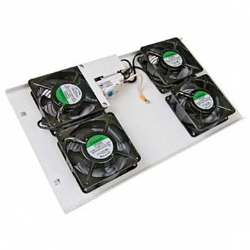 ITK Потолочная вентил. панель с термостатом, 4 вентил.,серая FM35-42 IEK