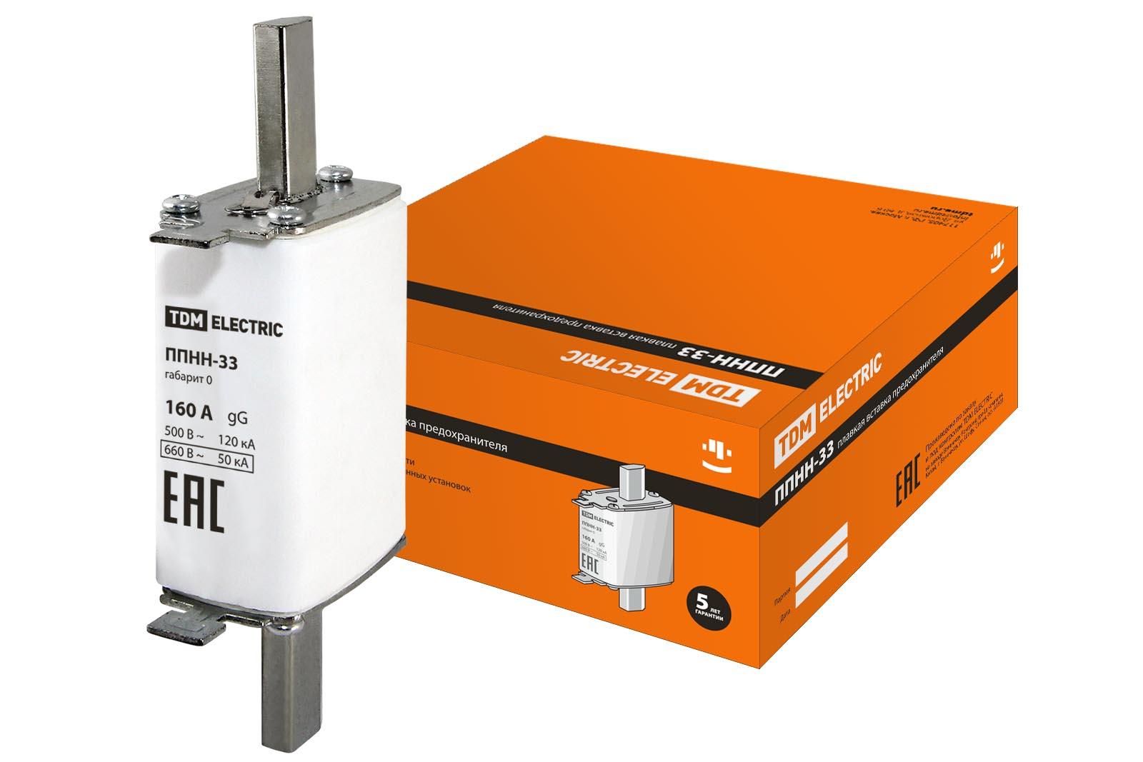TDM Предохранитель ППНН-33 габ.0, 160А SQ0713-0018 TDM Electric