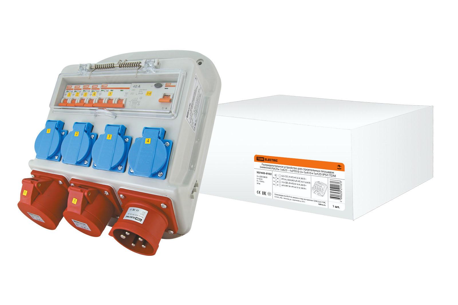 РУСПн 1х625 - 4хРП10-3+1х415+1х425 IP54 TDM SQ1605-0102 TDM Electric