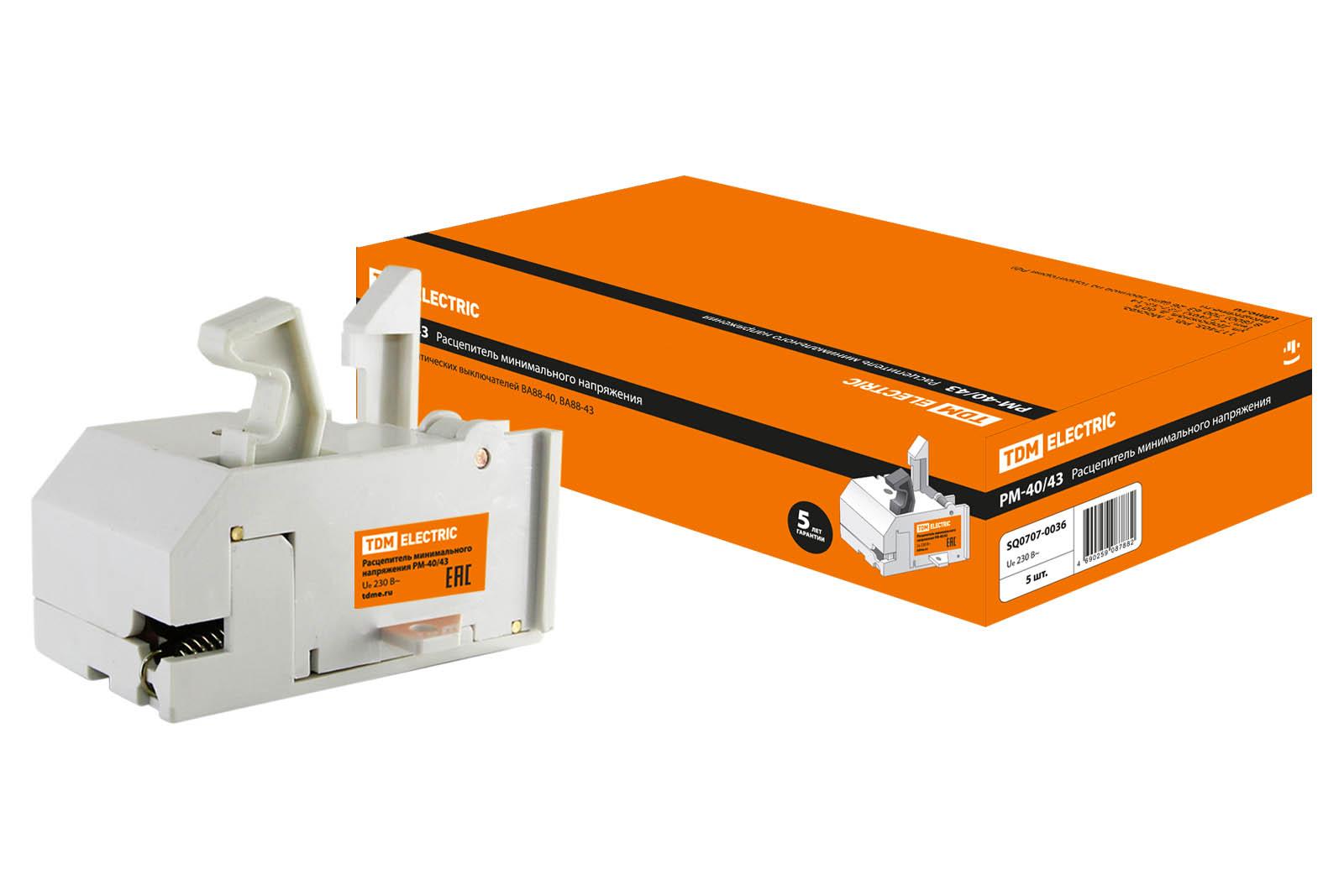 Расцепитель минимального напряжения РМ-800/1600 (РМ-40/43) TDM SQ0707-0036 TDM Electric