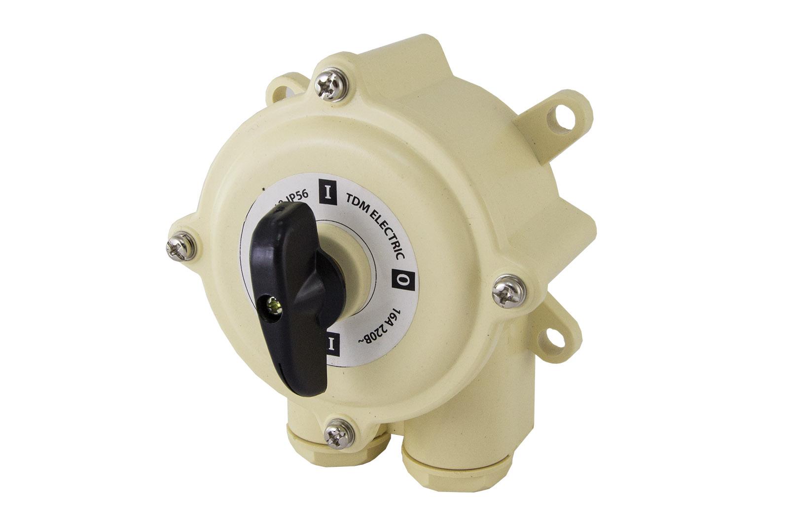 Пакетный выключатель ПВ2-16 2П 16А 220В IP56 TDM SQ0723-0006 TDM Electric