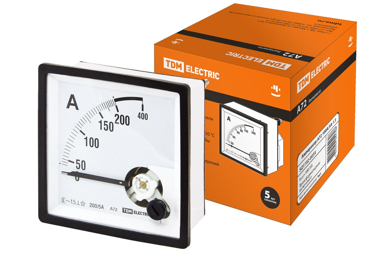 Амперметр А72 200А/5А-1.5 TDM SQ1102-0057 TDM Electric