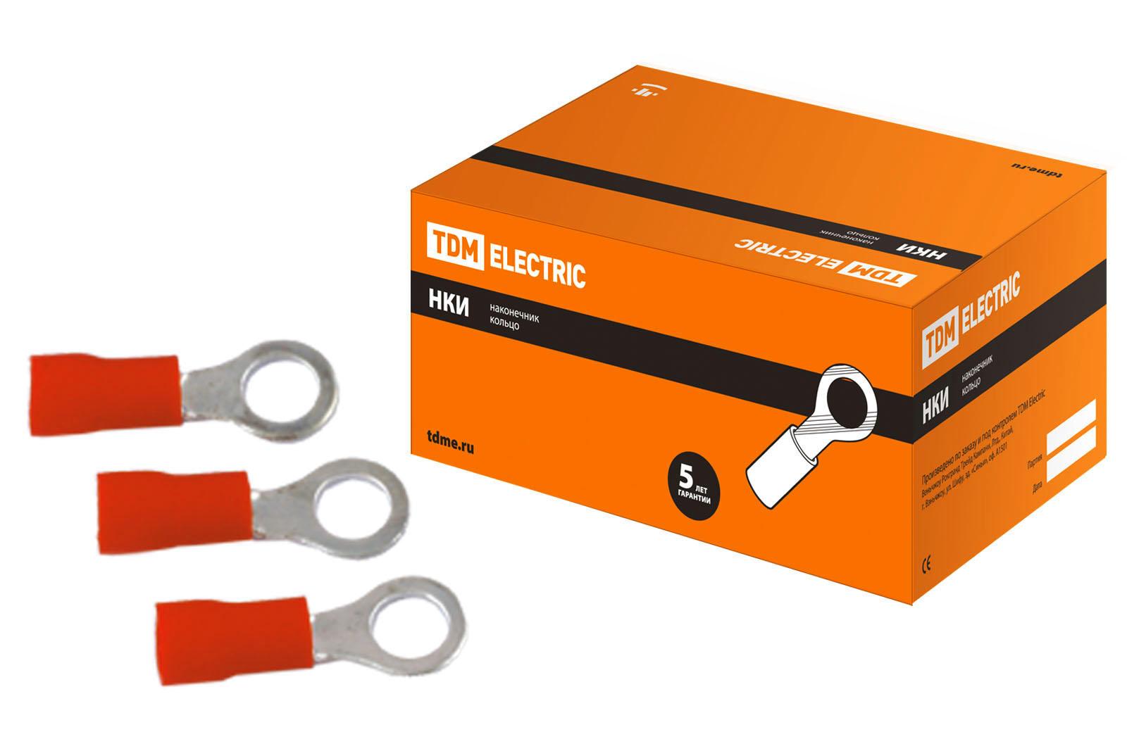 Наконечник НКИ 1,25-4 кольцо 0,5-1,5мм (100шт) TDM SQ0502-0001 TDM Electric