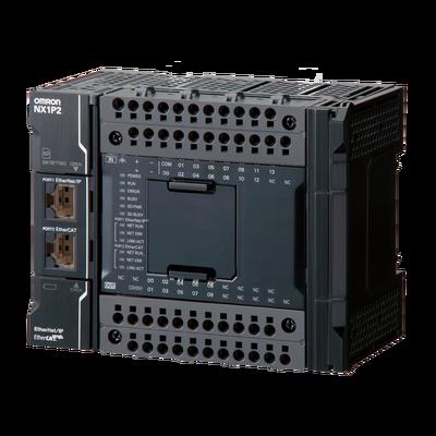 NX1P2-1040DT Контроллер NX1P,  1,5 Мб памяти программ, 2 Мб памяти данных, 24 вх/16 вых (NPN), до 8 модулей NX, управление движением до 2 осей, 1 x EtherNet/IP, 1xEtherCAT, 1 x слот для карты SD, 2 опц. порта, питание 24 В= 672500 Omron