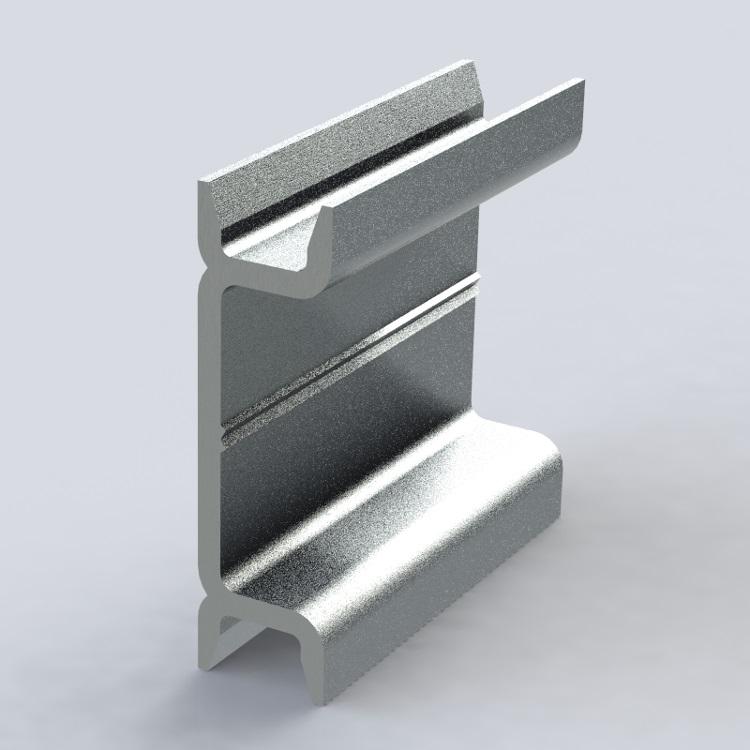 DIN-рейка  (200см) алюминиевая улучшенная DINR200P Texenergo