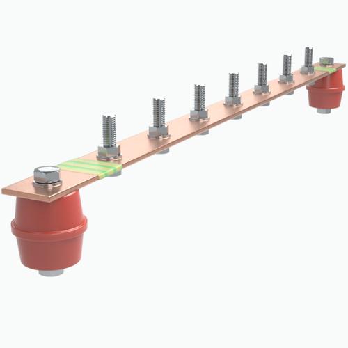 Шина заземления 200А 8 присоединений EBPE-200-8 Texenergo