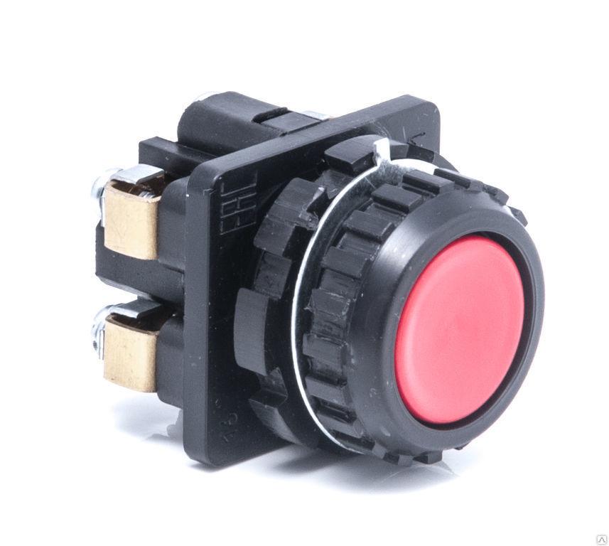 Выключатель кнопочный КЕ 012/1 красный 4з  Без производителя