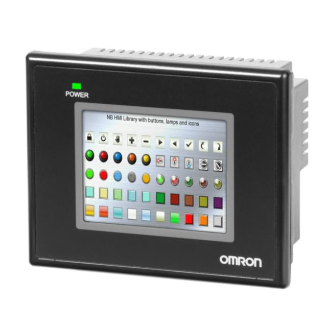 """NB3Q-TW00B Сенсорная панель оператора серии NB, диагональ 3,5"""", TFT, 65535 цветов, разрешение 320x240 точек, 1 x RS-232C/RS-422/RS-485 порт, память 128 Mбайт, USB, питание 24В= 392036 Omron"""