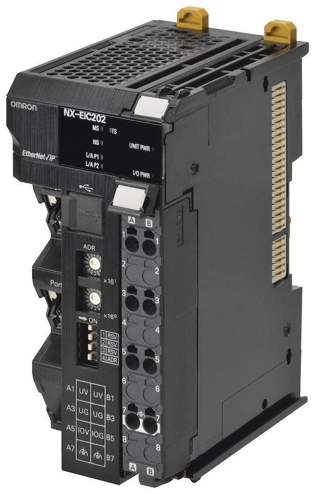 NX-EIC202 Интерфейсный модуль EtherNet/IP для системы ввода/вывода NX, 2 порта RJ-45, до 63 модулей ввода/вывода NX (512 байт для ввода, 512 байт для вывода). Максимальный ток вх/вых 10 А. 399449 Omron