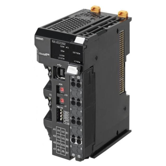 NX-ECC203 Скоростной интерфейсный модуль EtherCAT для системы ввода/вывода NX, 2 порта RJ-45, до 63 модулей ввода/вывода NX (1024 байт для ввода, 1024 байт для вывода). Максимальный ток вх/вых 10 А. Скоростной интерфейсный модуль EtherCAT для системы ввода/вывода NX, 2 порта RJ-45, до 63 модулей ввода/вывода NX (1024 байт для ввода, 1024 байт для вывода). Максимальный ток вх/вых 10 А. 419154 Omron