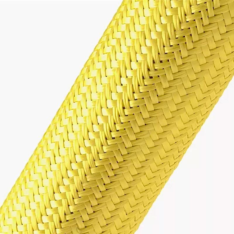 Кевларовая эластичная кабельная оплётка KL-008 (8,0мм.) желтая EKO-KL-008 Texenergo