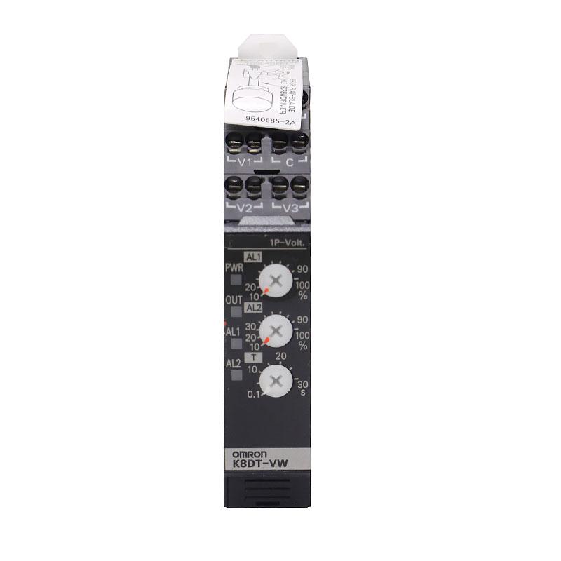 K8DT-VW3TA Реле контроля напряжения, 1 фаза, 2-пороговое, 220В АС, транзисторные выходы 669524 Omron