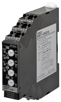 K8DT-AW3TD K8DTAW3TD Реле контроля серии K8DT, однофазное, с функцией контроля тока, двухпороговое, диапазоны входного сигнала: от 10 до 200 A AC, транзисторный выход, питание 24 VDC Реле контроля 669483 Omron
